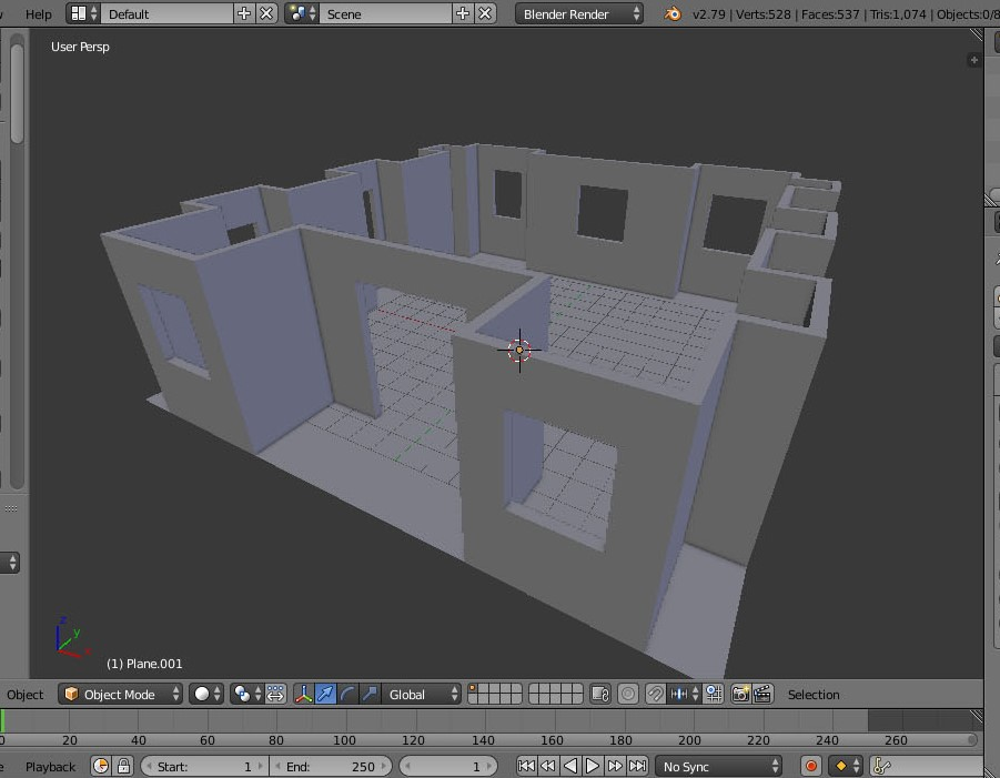 How to model a house in blender 3D software | GodReign
