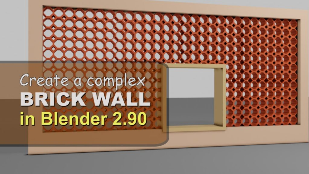 Create complex red brick wall in Blender 2.90 and Eevee